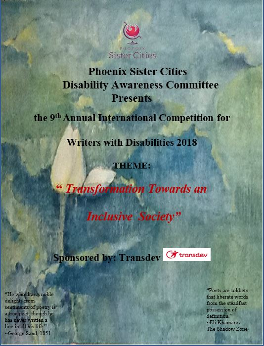 Disability Awareness Writers competition