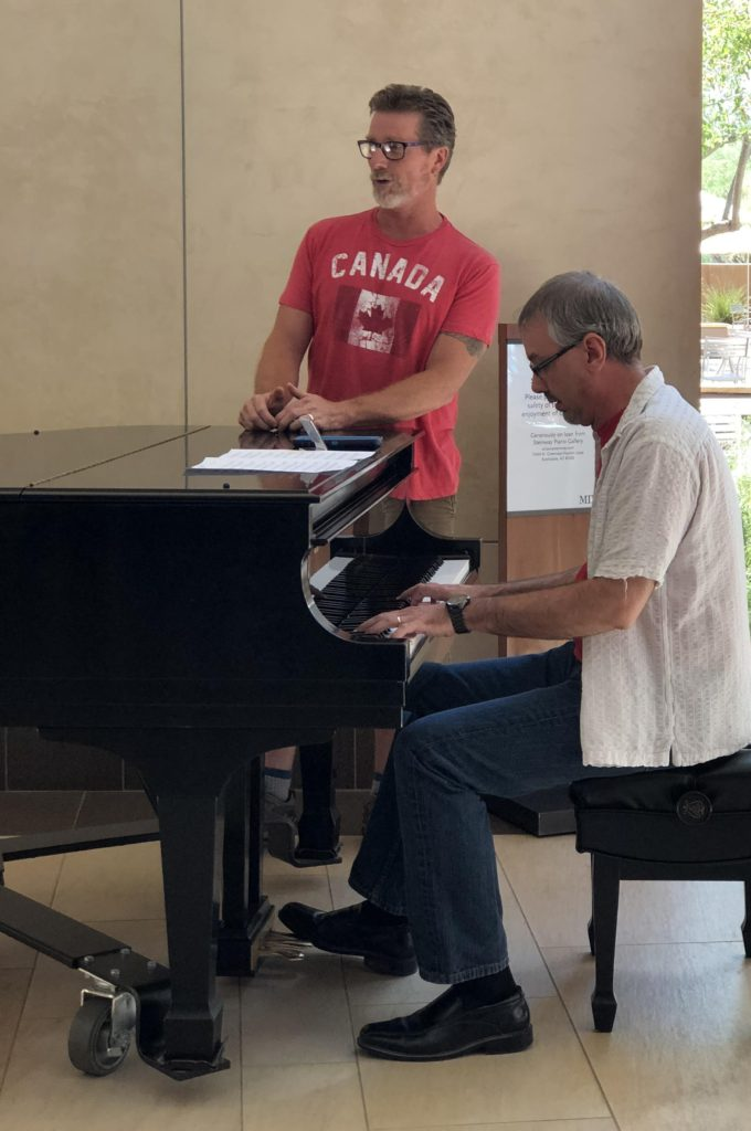 David Armstrong (vocals) and Mark Greenawalt (piano) providing patrons of the museum entertainment throughout the afternoon